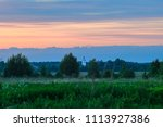 sunset in russia  moscow region ...   Shutterstock . vector #1113927386