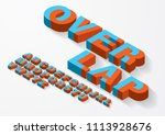 3 dimensional  3d overlap... | Shutterstock .eps vector #1113928676