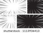 comic speed radial background... | Shutterstock .eps vector #1113936413