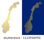 gold dotted norway map. vector... | Shutterstock .eps vector #1113936950