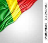 congo republic  flag of silk... | Shutterstock . vector #1113938903