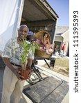portrait of cheerful african... | Shutterstock . vector #111395393
