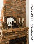 beautiful antique  fireplace... | Shutterstock . vector #1113954938