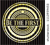 be the first golden badge | Shutterstock .eps vector #1113959453