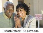 portrait of happy couple... | Shutterstock . vector #111396536