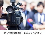 filming media event with a...   Shutterstock . vector #1113971450