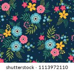 simple cute pattern in small... | Shutterstock .eps vector #1113972110