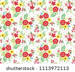 seamless floral pattern for... | Shutterstock .eps vector #1113972113