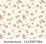 floral pattern. pretty flowers... | Shutterstock .eps vector #1113987386