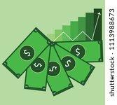 money bill cash icon vector... | Shutterstock .eps vector #1113988673
