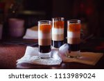 preparation of shots cocktails. ... | Shutterstock . vector #1113989024