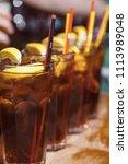 beautiful  golden row of... | Shutterstock . vector #1113989048