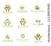 homeopathy creative symbols...   Shutterstock . vector #1113991940