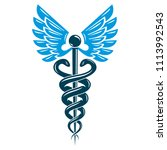 caduceus medical symbol ... | Shutterstock . vector #1113992543