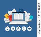 modern education concept.... | Shutterstock .eps vector #1113998933