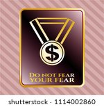 golden badge with business... | Shutterstock .eps vector #1114002860