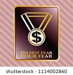 golden badge with business... | Shutterstock .eps vector #1114002860
