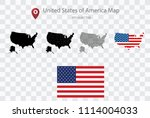 high quality map of united... | Shutterstock .eps vector #1114004033