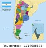 political vector map of...   Shutterstock .eps vector #1114005878