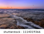long exposure seascape of... | Shutterstock . vector #1114019366