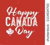 happy canada day t shirt for... | Shutterstock . vector #1114024703