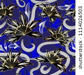 modern abstract flowers vector... | Shutterstock .eps vector #1114026503
