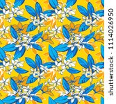 illustration tropical floral... | Shutterstock . vector #1114026950
