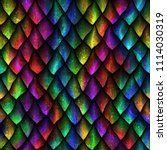 Seamless Texture Of Dragon...