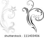 ornamental element with shining ...   Shutterstock .eps vector #111403406