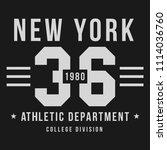 new york  athletic sport... | Shutterstock .eps vector #1114036760