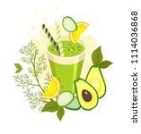 vector illustration glass glass ...   Shutterstock .eps vector #1114036868