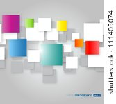 colorful square blank... | Shutterstock .eps vector #111405074