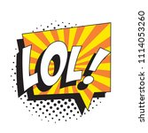 abbreviation lol  laugh out... | Shutterstock .eps vector #1114053260