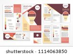 leaflets trifold brochure... | Shutterstock .eps vector #1114063850