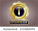 gold emblem with necktie icon ... | Shutterstock .eps vector #1114064594