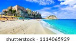 best beaches of italy and... | Shutterstock . vector #1114065929