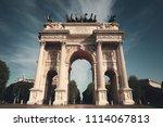 arch of peace  or arco della...   Shutterstock . vector #1114067813