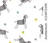 Cute Zebra And Butterflies...