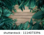 creative layout made of green... | Shutterstock . vector #1114073396
