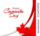 patriot poster with canada flag ... | Shutterstock .eps vector #1114076936