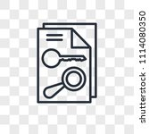 keyword vector icon isolated on ... | Shutterstock .eps vector #1114080350
