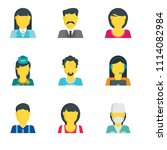 set of 9 simple editable icons... | Shutterstock .eps vector #1114082984