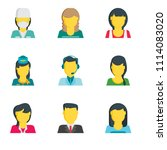 set of 9 simple editable icons... | Shutterstock .eps vector #1114083020