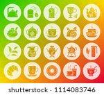 tea icons set. web sign kit of... | Shutterstock .eps vector #1114083746