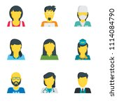 set of 9 simple editable icons... | Shutterstock .eps vector #1114084790