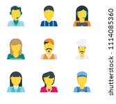 set of 9 simple editable icons... | Shutterstock .eps vector #1114085360