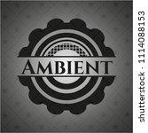 ambient dark badge | Shutterstock .eps vector #1114088153