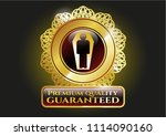 gold badge with dead man in... | Shutterstock .eps vector #1114090160