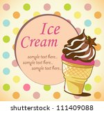 ice cream cone background | Shutterstock .eps vector #111409088