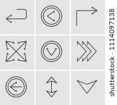 set of 9 simple editable icons... | Shutterstock .eps vector #1114097138